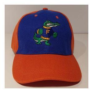 Alligator Embroidered Gator Blue & Orange Cap Hat